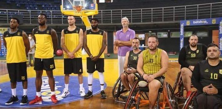 Μπάσκετ με Αμαξίδιο: Αγιασμός στο «Nick Galis Hall» με την ανδρική ομάδα μπάσκετ του ΑΡΗ (pics)