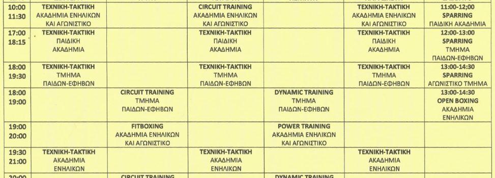 Πυγμαχία: Το νέο πρόγραμμα προπονήσεων