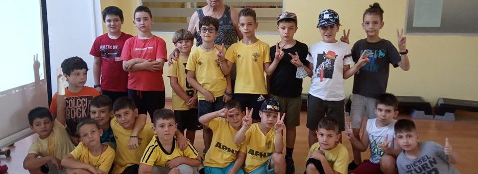 Ο Βασίλης Ψηφίδης στο ARIS Summer Sports Camp 2021 (pics)