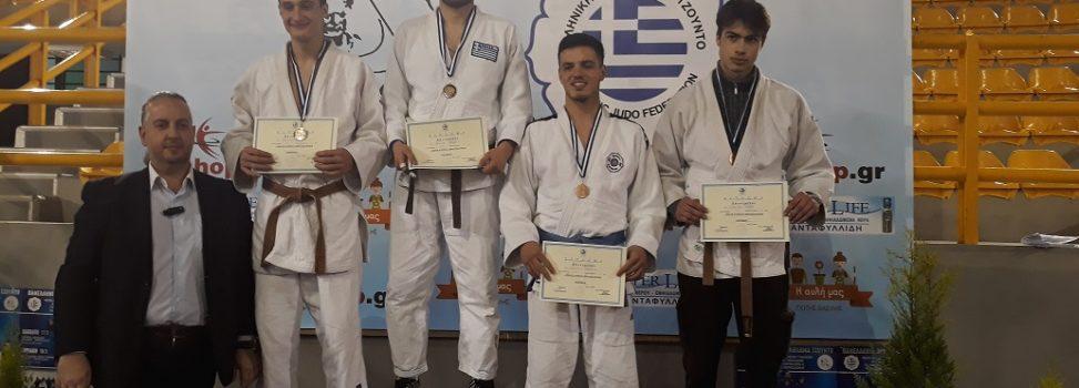 Χρυσός Πρωταθλητής Έφηβων Judo ο αθλητής του ΑΡΗ, Θάνος Μυλωνέλης