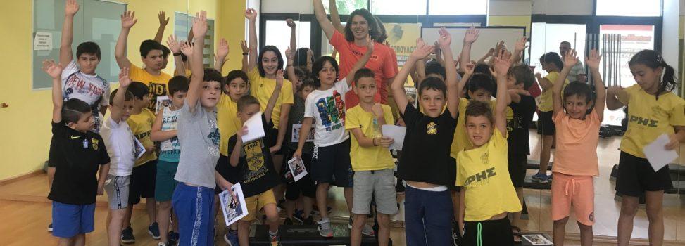 Στέλιος Μαλακόπουλος: Ένας μαχητής της ζωής στο ARIS Sports Summer Camp 2021 (photostory)