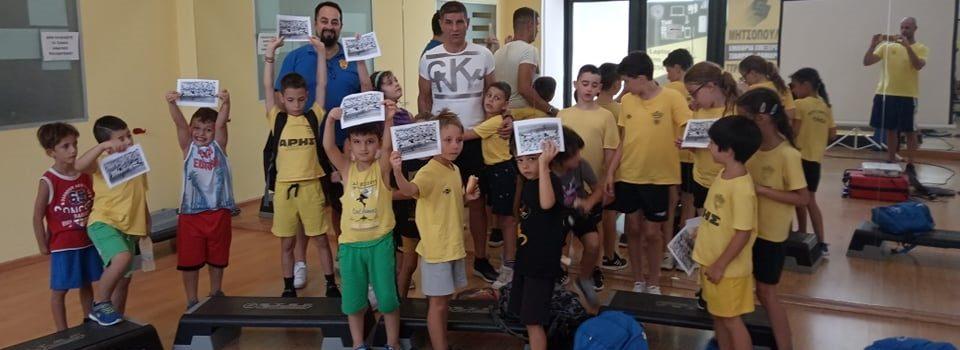 Ο Γιάννης Μηχαλήτσος στο ARIS Sports Summer Camp 2021 (pics)
