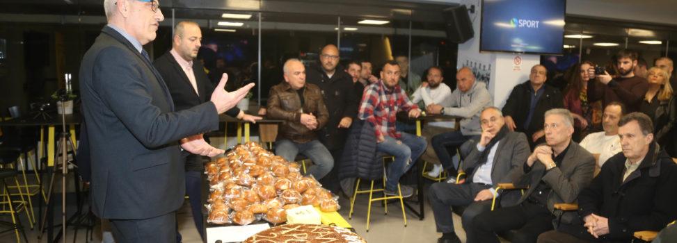 Η ομιλία του προέδρου του Α.Σ. ΑΡΗΣ, Λευτέρη Αρβανίτη, στην κοπή της πίτας του Ερασιτέχνη (VIDEO)