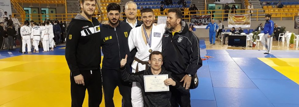 3oς στο Πανελλήνιο Πρωτάθλημα Τζούντο Νέων ο Θάνος Μυλωνέλης