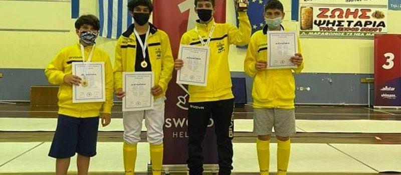 Ξιφασκία: Δύο χρυσά και ένα ασημένιο μετάλλιο για τον ΑΡΗ στο Πανελλήνιο Πρωτάθλημα (pics)