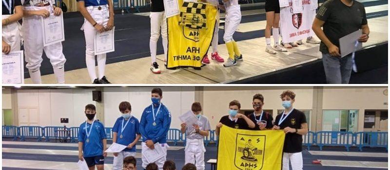 Ξιφασκία: «Χρυσές» οι Κορασίδες, «χάλκινοι» οι Παίδες του ΑΡΗ στο Πανελλήνιο Πρωτάθλημα (photostory)
