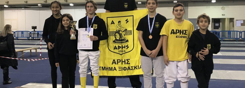 Ξιφασκία: Δύο χρυσά και ένα χάλκινο μετάλλιο για τον ΑΡΗ στο Κύπελλο Σπάθης (photostory)